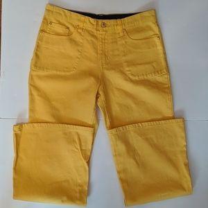 Diane Gilman DG2 Yellow Jeans  10P  Excellent Cond